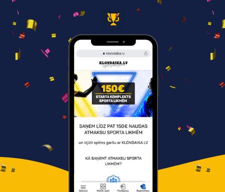 Klondaika – lielākais starta sporta bonuss Latvijā!