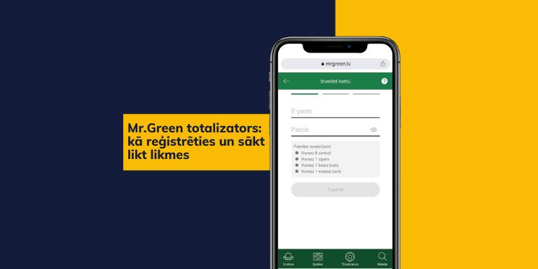 Kā reģistrēties un sākt likt likmes – Mr.Green sporta totalizators