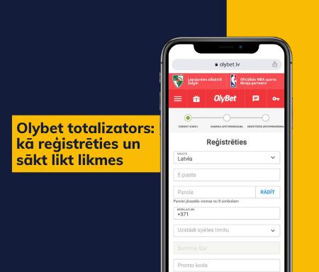 Olybet totalizators: kā reģistrēties un sākt likt likmes