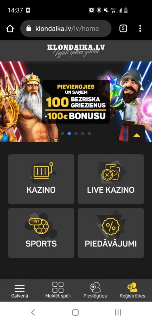 Klondaika.lv kazino, likme.tv